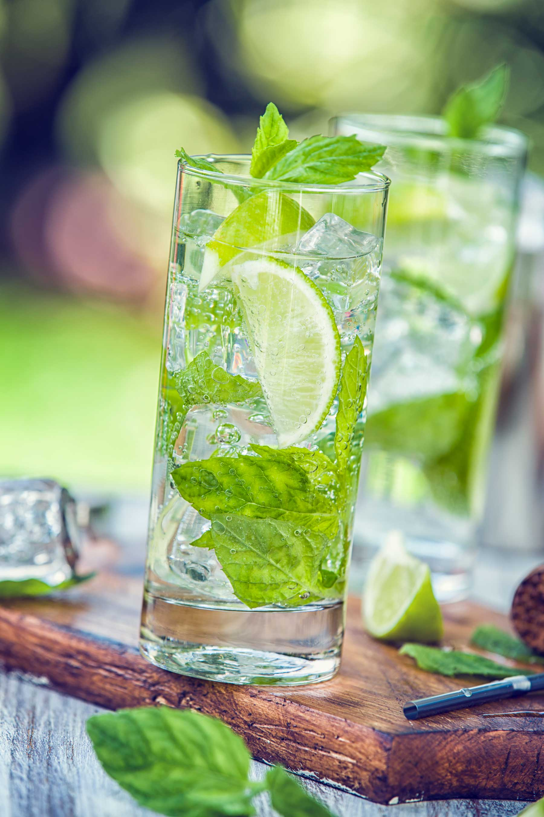 Summer Drink: rum, mint and lime