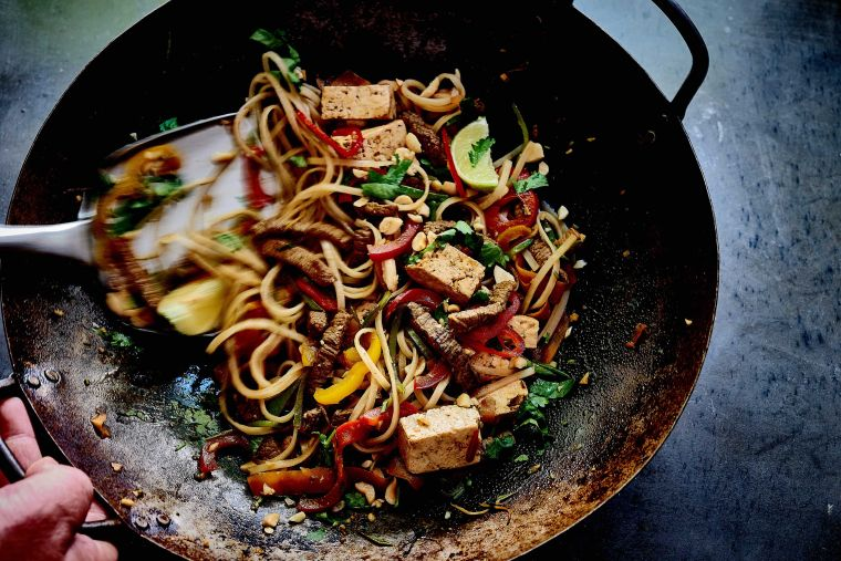 Beef-and-tofu-noodle-salad