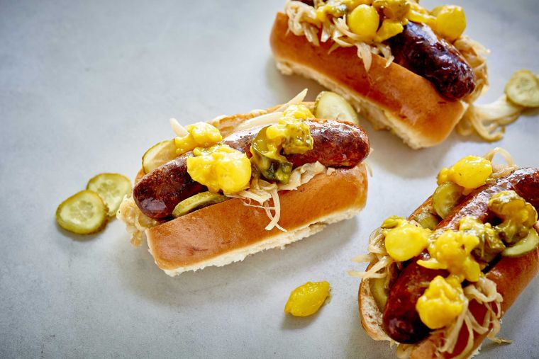 Hotdogs-with-homemade-piccalilli
