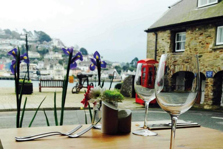 Bushell's Dartmouth, view from window table
