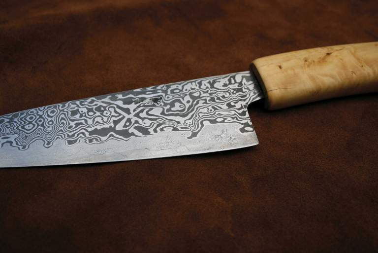 Knife made by Dave Budd, Dartmoor, Devon