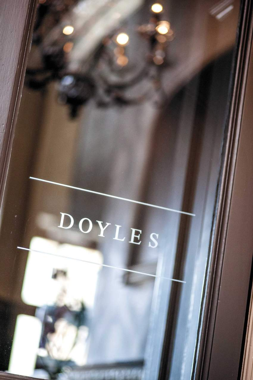 Door sign at Doyles restaurant at the Woolacombe Bay Hotel in North Devon