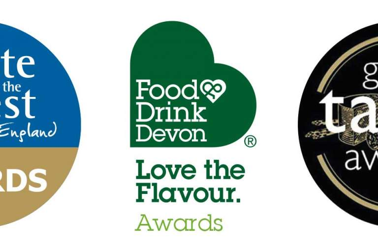 Taste of the West Award logo, Food & Drink Devon Award logo, Great Taste Award Logo