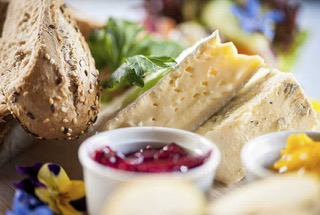 bread, cheese and chutney. Served at Home Farm Café in Parke, Bovey Tracey