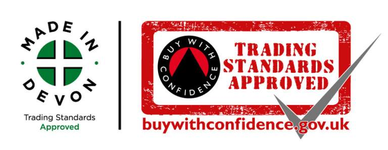 Made in Devon and Trading Standards Approved logos
