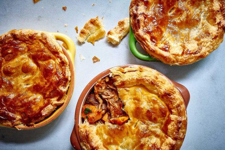 Moroccan lamb pie with pumpkin and chickpeas