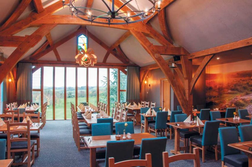 The refurbished restaurant at Dainton Park