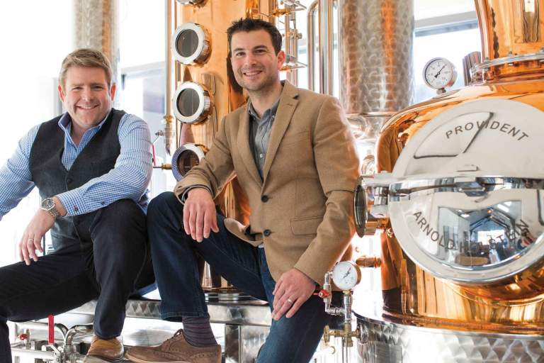Angus Lugsdin and Howard Davies, Salcombe Distilling Company. Salcombe Gin