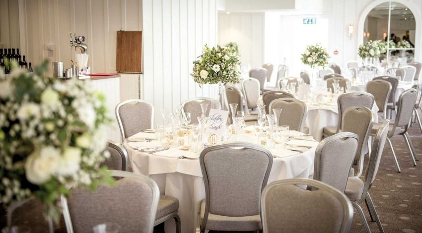 Wedding reception at Salcombe Harbour Hotel, Devon