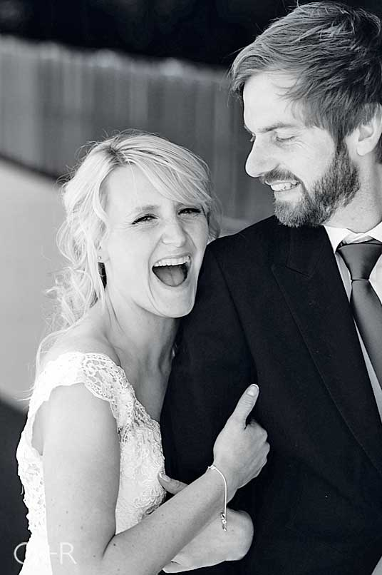 Bride and Groom portrait at Salcombe Harbour Hotel, Devon