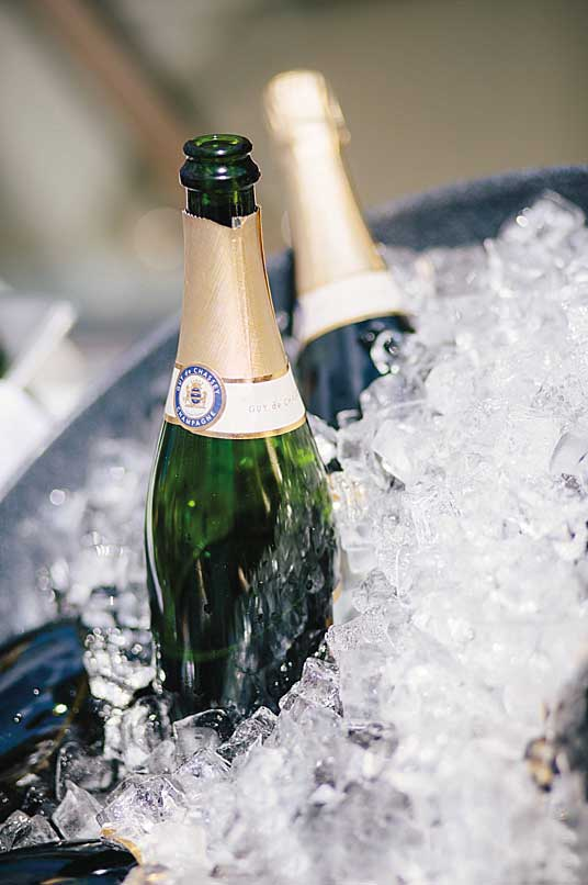 Champagne on ice at Salcombe Harbour Hotel