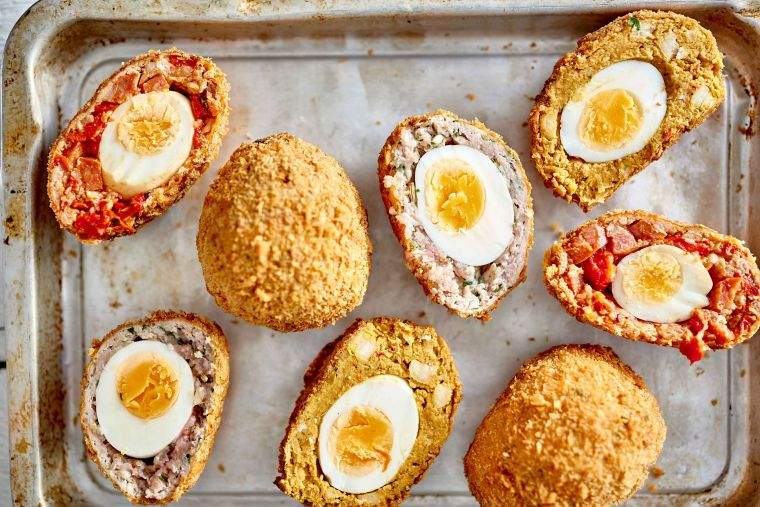 Scotch eggs three ways