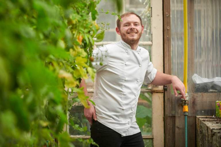 Tom Browning. Head Chef at Lewtrenchard Manor in Devon