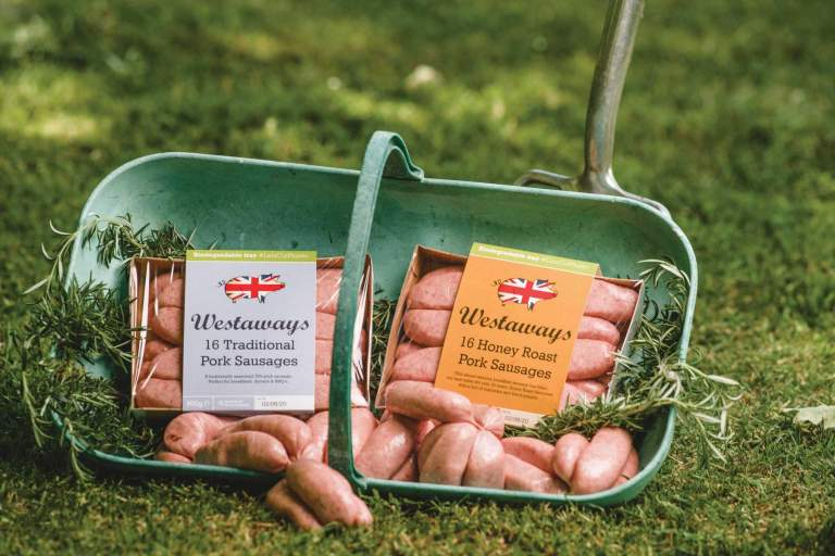 Westaway Sausages. New eco packaging